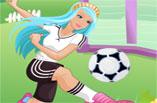Futbolcu Barbie Oyunu